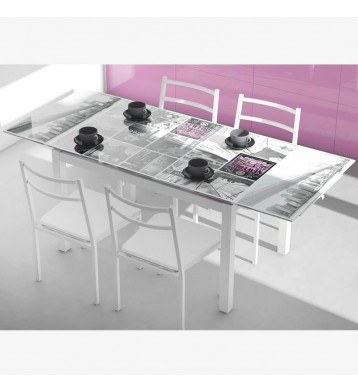 Pack cocina New York mesa extensible y 4 sillas