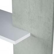 Estantería moderna Cemento 5 baldas 90x25x180 cm