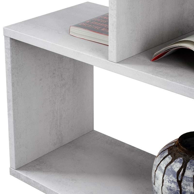 Estantería Athena alta color cemento 80x25x192 cm