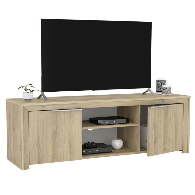 Mueble TV Olim 140 cm moderna 2 puertas 2 huecos