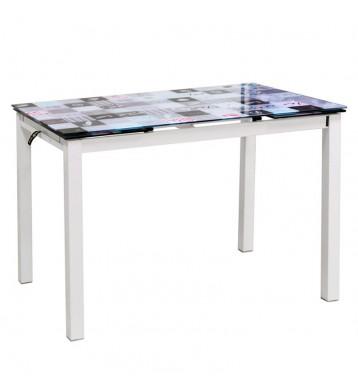 Mesa cocina extensible Bisbe Mosaico 110-170x70x75 cm