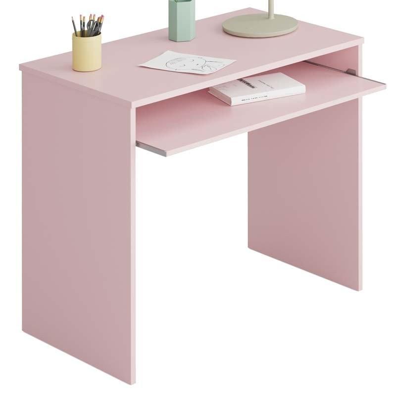 Dormitorio juvenil completo color rosa y blanco alpes