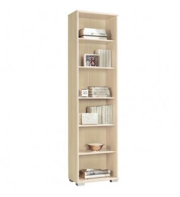 Librería estrecha estantería Duna 3 color haya 51x33x199 cm