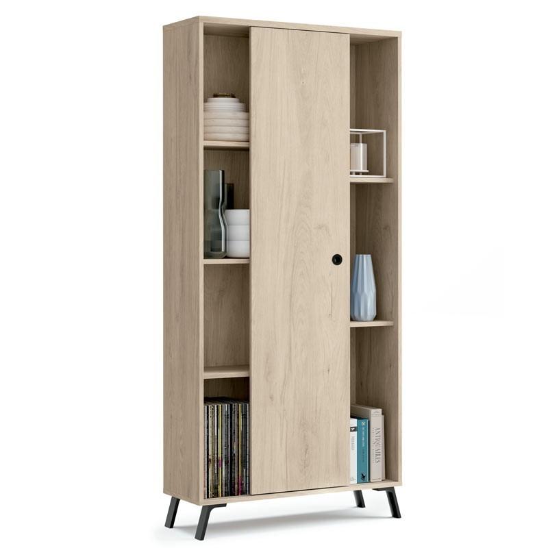 Librería Kam puerta corredera 180x80x33 cm