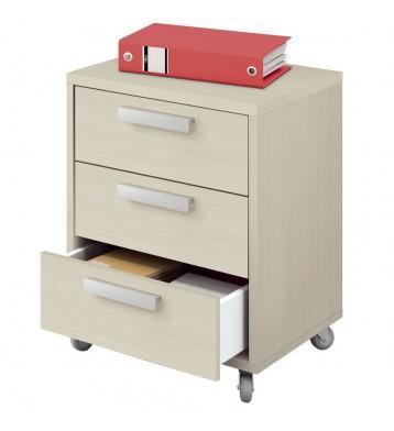 Cajonera escritorio buck Maka color pino 55x40