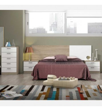 Muebles dormitorio matrimonio Couple blanco y sable