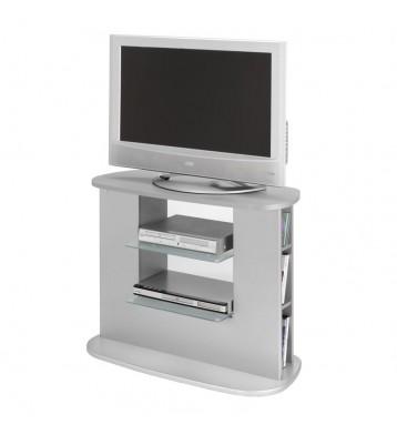 Mueble televisión color plata salón 90x40