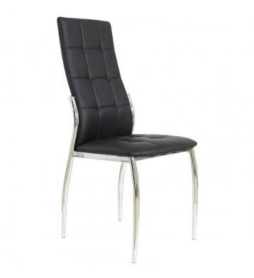 Pack 4 sillas comedor Laci polipiel negra