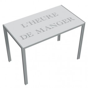 Mesa fija de cristal cocina Cica Manger 105x60 cm
