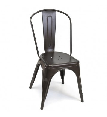 Pack 2 sillas metal negro Xavier industrial cocina
