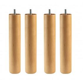 Pack 4 patas redondas madera Haya